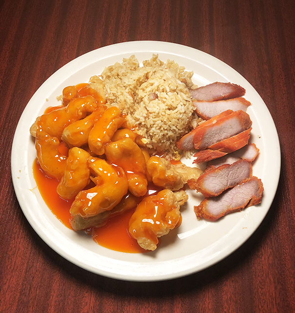 Dinner #4 Pork Fried Rice&BBQ Pork&Sweet & Sour Chicken